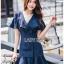 เสื้อผ้าแฟชั่นเกาหลี Lady Ribbon's Made Lady Maria Double-Breasted Ruffle Suit Cotton Dress thumbnail 1