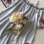 เสื้อผ้าแฟชั่นเกาหลี Lady Ribbon Thailand Seoul Secret Say'...Shoulder Blue Dress Embroidery Lace Bohemia thumbnail 5