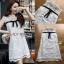 🎀 Lady Ribbon's Made 🎀 Lady Rika Feminine Pearl Embellished White Lace Dress thumbnail 5