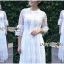 เสื้อผ้าแฟชั่นเกาหลี Lady Ribbon's Made Lady Mia Princess White Lace Maxi Dress thumbnail 1