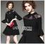 🎀 Lady Ribbon's Made 🎀 Lady Bianca Black Ribbon Frilled Dress thumbnail 1