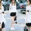 Seoul Secret Say's... Korea Pleaty Tailing Blouse thumbnail 2