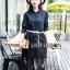 เสื้อผ้าแฟชั่นเกาหลี Lady Ribbon's Made Lady Charlie Sweet Minimal Chic Insert Lace Shirt Dress thumbnail 2