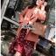 เสื้อผ้าแฟชั่นเกาหลี Lady Ribbon's Made Lady Monica Floral Patterned Printed Wrap Dress thumbnail 10