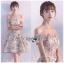 เสื้อผ้าแฟชั่นเกาหลี Lady Ribbon's Made Lady Erin Off-Shoulder Pink Flower Embroidered Tulle Mini Dress thumbnail 2