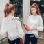 เสื้อผ้าแฟชั่นเกาหลี Lady Ribbon's Made Yves Classic Sweet White Lace Blouse thumbnail 3
