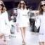 เสื้อผ้าแฟชั่นเกาหลี Sweet Bunny Present... Overlay White Shirt Dress thumbnail 5