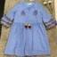 เสื้อผ้าแฟชั่นเกาหลี Normal Ally Present Embroidered Bohemian style dress thumbnail 6