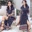 เสื้อผ้าแฟชั่นเกาหลี Lady Ribbon Thailand Normal Ally Present Bohemian print style chic summer dress thumbnail 2