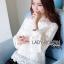เสื้อผ้าแฟชั่นเกาหลี Lady Ribbon's Made Yves Classic Sweet White Lace Blouse thumbnail 1