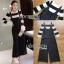 เสื้อผ้าแฟชั่นเกาหลี Lady Ribbon's Made Lady Victora Minimal Chic Striped Blue and Belted Overall Jumpsuit Set thumbnail 9