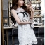 🎀 Lady Ribbon's Made 🎀 Lady Rika Feminine Pearl Embellished White Lace Dress thumbnail 4