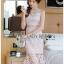 🎀 Lady Ribbon's Made 🎀 Lady Emma Sweet Baby Pink Guipure Lace Dress thumbnail 4