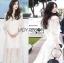 เสื้อผ้าแฟชั่นเกาหลี Lady Ribbon's Made Lady Natalie Little Princess High-Neck White Lace Long Dress thumbnail 9