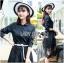 เสื้อผ้าแฟชั่นเกาหลี Lady Ribbon's Made Lady Charlie Sweet Minimal Chic Insert Lace Shirt Dress thumbnail 3