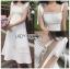 เสื้อผ้าแฟชั่นเกาหลี Lady Ribbon's Made Lady Kiera Holiday Bliss Ribbon Strap Embroidered White Linen Dress thumbnail 3