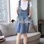 Seoul Secret Say's...Star pendant T-shirt Splitty Skirt Bibby Set thumbnail 1