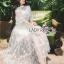 เสื้อผ้าแฟชั่นเกาหลี Lady Ribbon's Made Lady Natalie Little Princess High-Neck White Lace Long Dress thumbnail 5