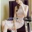 🎀 Lady Ribbon's Made 🎀 Lady Emma Sweet Baby Pink Guipure Lace Dress thumbnail 2