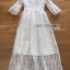 เสื้อผ้าแฟชั่นเกาหลี Lady Ribbon's Made Lady Mia Princess White Lace Maxi Dress thumbnail 10