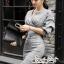 เสื้อผ้าแฟชั่นเกาหลี Lady Ribbon Thailand Seoul Secret Say's...Dress Scott Gray Style Working Woman thumbnail 2