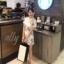 เสื้อผ้าแฟชั่นเกาหลี Normal Ally Present Spring print and 3D flower playsuit by K.S brand thumbnail 6