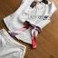 เสื้อผ้าแฟชั่นเกาหลี Lady Ribbon's Made Lady Rachel Smart Casual White Top with ColorfulRibbon and Side-Pleated Pants Set thumbnail 5