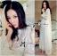 เสื้อผ้าแฟชั่นเกาหลี Lady Ribbon Thailand Lady Ribbon's Made Lady Lizzie Pyjama Style Embellished Organza Maxi Dress thumbnail 2