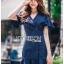 เสื้อผ้าแฟชั่นเกาหลี Lady Ribbon's Made Lady Maria Double-Breasted Ruffle Suit Cotton Dress thumbnail 2