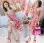เสื้อผ้าแฟชั่นเกาหลี Lady Ribbon's Made Lady Alisa Baby Pink Guipure Lace Single Dress thumbnail 6