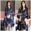 เสื้อผ้าแฟชั่นเกาหลี Lady Ribbon's Made Lady Monica Floral Patterned Printed Wrap Dress thumbnail 7