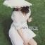 เสื้อผ้าแฟชั่นเกาหลี Lady Ribbon's Made Lady Victoria Casual Holiday White Cotton Dress thumbnail 5