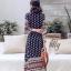 เสื้อผ้าแฟชั่นเกาหลี Lady Ribbon Thailand Normal Ally Present Bohemian print style chic summer dress thumbnail 3