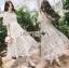 เสื้อผ้าแฟชั่นเกาหลี Lady Ribbon's Made Lady Natalie Little Princess High-Neck White Lace Long Dress thumbnail 4