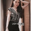 เสื้อผ้าแฟชั่นเกาหลี Lady Ribbon's Made Lady Martha Tribal Chic Crystal Embellished Black Jumpsuit thumbnail 3
