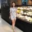 เสื้อผ้าแฟชั่นเกาหลี Lady Ribbon Thailand Normal Ally Present Embroider japan flower playsuit thumbnail 1