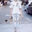 เสื้อผ้าแฟชั่นเกาหลี Seoul Secret Say's... Chic Ivy Rosy Stick Set thumbnail 4