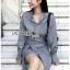 เสื้อผ้าแฟชั่นเกาหลี Lady Ribbon's Made Lady Smart Chic Twist Ribbon Shirt Dress thumbnail 9