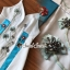เสื้อผ้าแฟชั่นเกาหลี Seoul Secret Say's...Fashion Blue Diamond Embroidery Dress thumbnail 4