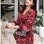 เสื้อผ้าแฟชั่นเกาหลี Lady Ribbon's Made Lady Monica Floral Patterned Printed Wrap Dress thumbnail 9
