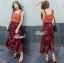 เสื้อผ้าแฟชั่นเกาหลี Lady Ribbon Thailand Korea Design By Lavida Colorful floral printed chic set thumbnail 3