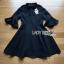 เสื้อผ้าแฟชั่นเกาหลี Lady Ribbon's Made Lady Bianca Black Ribbon Frilled Dress thumbnail 4