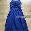 เสื้อผ้าแฟชั่นเกาหลี Lady Ribbon's Made Rosie Sexy Chic Cut-Out Electric Blue Dress thumbnail 4