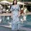 เสื้อผ้าแฟชั่นเกาหลี Lady Ribbon Thailand Morning Posh Present D.S.Y brand new collection maxi dress thumbnail 1