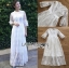 เสื้อผ้าแฟชั่นเกาหลี Lady Ribbon's Made Lady Mia Princess White Lace Maxi Dress thumbnail 6