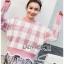 เสื้อผ้าแฟชั่นเกาหลี Lady Ribbon's Made Lady Cecil Tartan Weaves Knit Sweater thumbnail 2