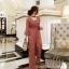 เสื้อผ้าแฟชั่นเกาหลี New arrival ... Don't Miss!! Normal Ally Present Classy Lace Jumpsuit thumbnail 1
