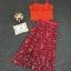 เสื้อผ้าแฟชั่นเกาหลี Lady Ribbon Thailand Korea Design By Lavida Colorful floral printed chic set thumbnail 4