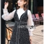 เสื้อผ้าแฟชั่นเกาหลี Lady Ribbon's Made Lady Marie Tweed Dress Over High-Neck Blouse Set thumbnail 1
