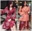 เสื้อผ้าแฟชั่นเกาหลี Lady Ribbon's Made Lady Monica Floral Patterned Printed Wrap Dress thumbnail 8